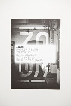ZOOM – Basle Film Festival & Film Prize ° Identity on the Behance Network #design #graphic