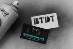 Kommigraphics Print & New Media Design Studio | Projects & Portfolio | BTDT Urban Blog #stencil #card #business