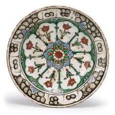Fine Iznik Ceramic Plate