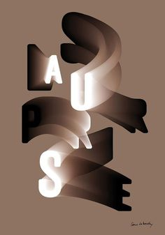 Côme de Bouchony #type #gradient #letter