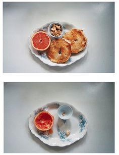 Breakfast #grapefruit #photography #bagel #breakfast