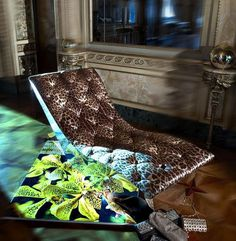 Chaiselonge chair by Roberto Cavalli #accessories #artistic #collection #home #furniture #cavalli #art #roberto