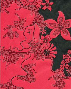 James Osborn - Illustrator #ink #red #woman #floral #black #illustration #pen