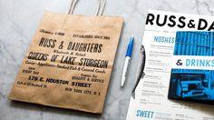 Russ & Daughters #type #blue #branding #restaurant