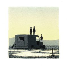 Pebble Island Screenprints : Jon McNaught #landscapes