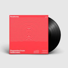 Paraforma - Dopamine from Redscreen. Vinyl Cover Design. #cover #artwork #graphic #design #minimal #vinyl #helvetica #typography
