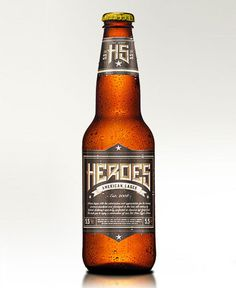 Heroes American Lager Bottle #packaging #beer #bottle