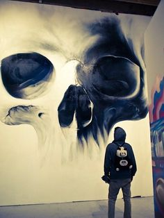 Illustration/Painting/Drawing inspiration #paint #illustration #skull