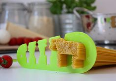 This pasta measurer will ensure you cook the perfect amount of pasta every time, especially if you're hungry enough to eat a horse. #design