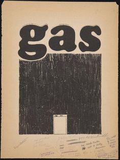 edward ruscha lithograph aging gas