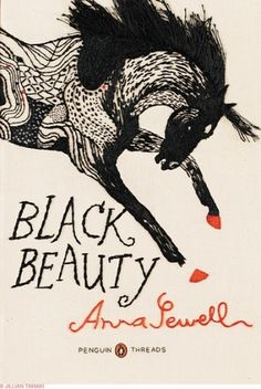 A CUP OF JO: Embroidered book covers #graphic #cover #draw #black beauty