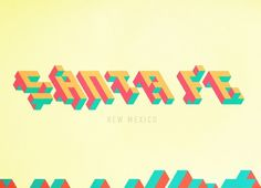 Pinned by #santa #typography #color #geometric #fe #cube