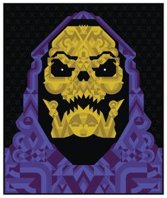 Todd Slater | SKELETOR #skeletor #print #retro #illustration #80s