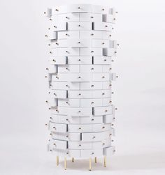 Nika Zupanc designed a cylindrical cabinet for storing keepsake