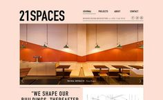 21 Spaces #webdesign