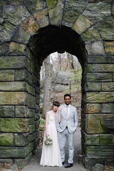 New-York-City-Elopement-14 #apple #bun #blossom #city #big #the #bride #car #taxi #nyc #wedding