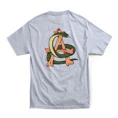 Americus on Behance #illustration #tshirt #lettering #street #snake #skateboarding #bones