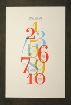 PO6_SOF #print #letterpress #on #fire #studio #poster #numbers #beastpieces