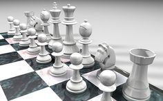 Cinema 4D Chess Set on the Behance Network #chess #horse #rook #maxon #pawn #bishop #set #queen #cinema #4d #knight #king