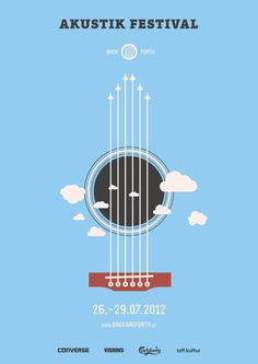 Back and Forth Music Festival on Behance #guitar #festival #branding #back #forth #and #music #logo