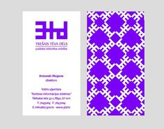 Zigmunds Lapsa / graphic design #business #card #pattern #branding