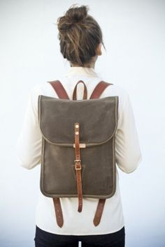 vineet kaur #backpack #back #leather #girl