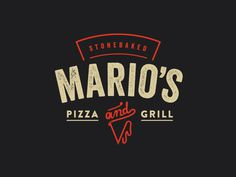 Logo for Mario's Pizza & Grill #logo #branding #pizza #grill #takeaway #restaurant