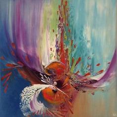 My quest (90 x 90 cm) – Painting by Eliora BOUSQUET