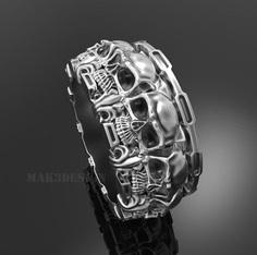 ring skull 131 3d model obj stl 2