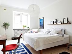 A Merry Mishap: ✚ I could live here #bed #white #house