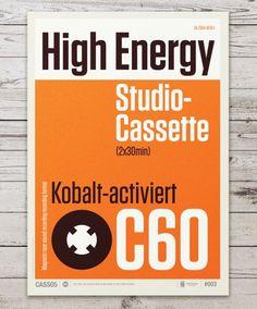 Audio Cassette Posters by Neil Stevens #helvetica #swiss #typography