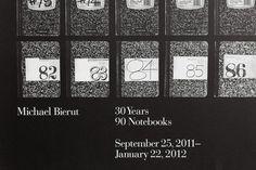 Michael Bierut Exhibition : Hamish Smyth #bierut #pentagram #poster