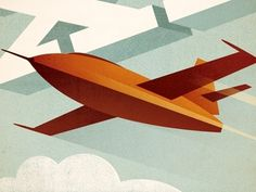 Dribbble - Bell X-1 by Eric R. Mortensen #illustration #plane #jet #airplane