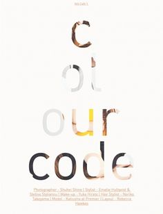 Colour Code | Volt Café | by Volt Magazine #beauty #design #graphic #volt #photography #art #fashion #layout #magazine #typography