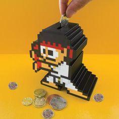 Street Fighter Ryu Money Box #tech #flow #gadget #gift #ideas #cool