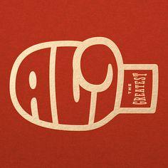 Muhammad Ali logo by Travis Price #ali #boxing #logo #typography #branding