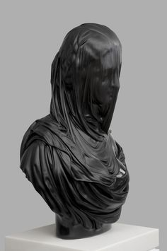 Barry xball sculpture #sculpture #head #black #draped #bust #statue #art #covered