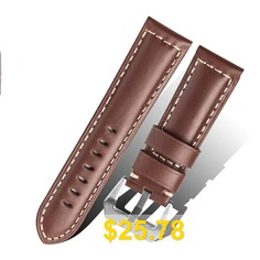 Genuine #Leather #22M #Watch #Band #Strap #Belt #for #Samsung #Gear #S3 #Frontier #- #DEEP #COFFEE