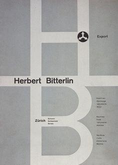 Max Huber, Herbert Bitterlin, 1941 #max #huber #1941 #design #graphic #poster