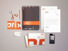 Dribbble - Prix Stationary by Mikael Westman #design #graphic #mock #stationery
