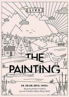"Moritz Gemmerich - new office - ""the painting"" gigposter"