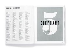 Elephant Magazine: Issue 5 « Studio8 Design #editorial #magazine #typography