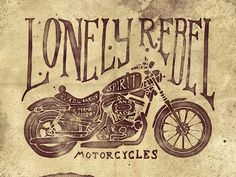 Typography and Motorcycles Go Together Like Coffee and Cake (20 Artworks) #type #illustration #motorcycle #typography