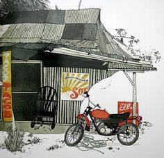 FFFFOUND! | Mexican Taco Shack by Evan Hecox on Flickr - Photo Sharing! #motorcycle #evan #taco #shack #hecox