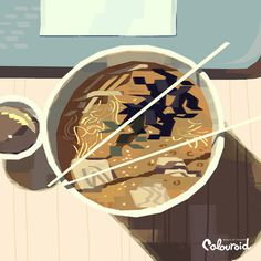 Colouroid, a vibrant illustrations of everyday things by Kevin Dart