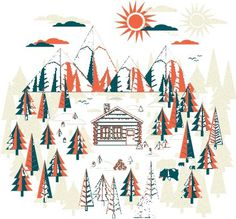 Forest infographics #illustration