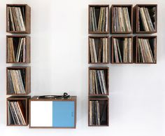 "CJWHO ™ (turn table and vinyl record storage ""LP storage""...)"