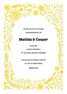 Garden Party - Engagement Invitations #paperlust #engagement #engagementinvitation #invitation #engagementcards #engagementinspiration #wed