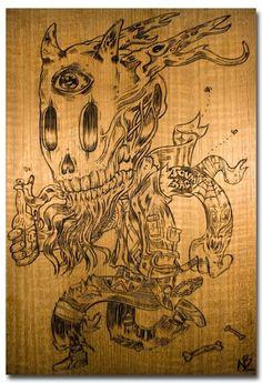 BeeryMethod.com Blog » skull #nick #burn #beery #wood #art #skull