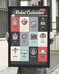 lovely-stationery-2013-robot-calendar-1 #robot #calendar
